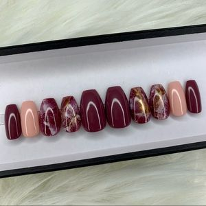 Marble Press On Nails